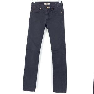 Acne Jeans Sz 27 Hex Black Ups Washed Black Jeans